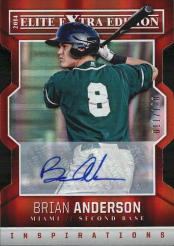 Photo of 2014 Elite Extra Edition Signature Inspirations #55 Brian Anderson
