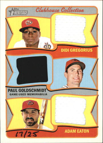 Photo of 2014 Topps Heritage Clubhouse Collection Triple Relics #CCTRGGE Didi Gregorius/Adam Eaton/Paul Golds