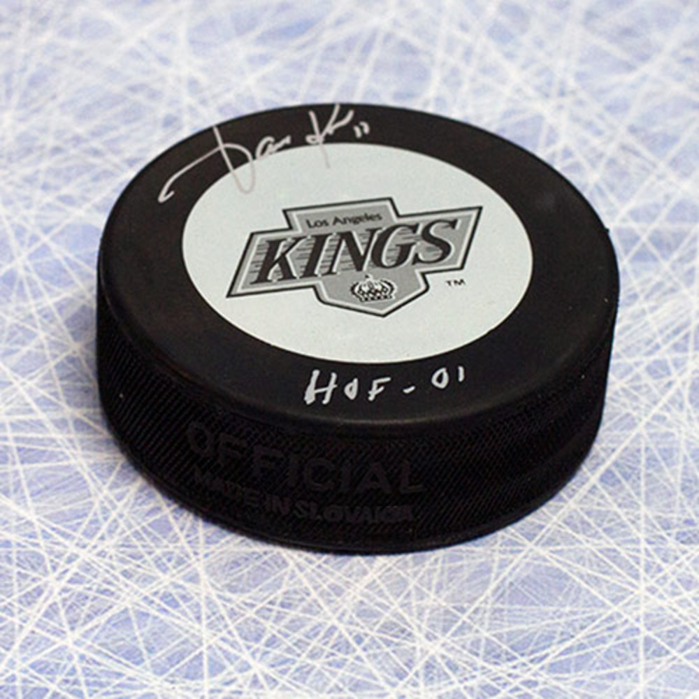 Jari Kurri Los Angeles Kings Autographed Hockey Puck with HOF Inscription