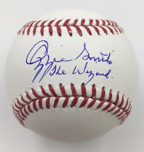 "Photo of Ozzie Smith ""The Wizard"" Autographed Baseball"