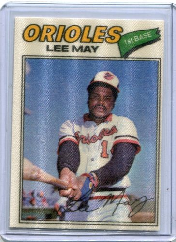 Photo of 1977 Topps Cloth Stickers #26 Lee May SP
