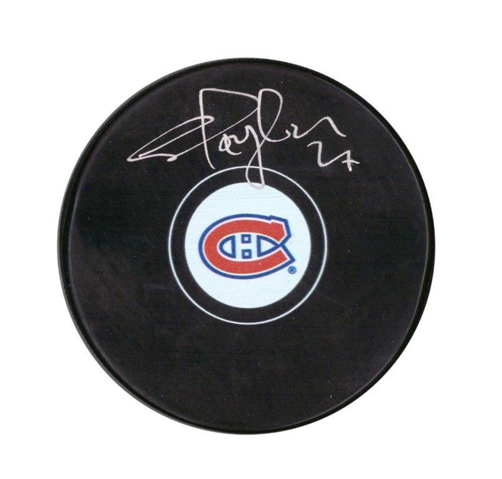 Shayne Corson Signed Puck Canadiens