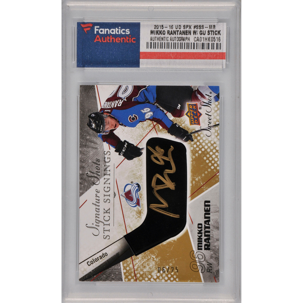 Mikko Rantanen Colorado Avalanche Autographed 2015-16 Upper Deck SPX #SSS-MR Card