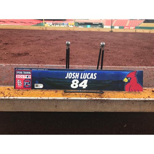 Photo of Cardinals Authentics: Josh Lucas Team-Issued Spring Training Locker Tag