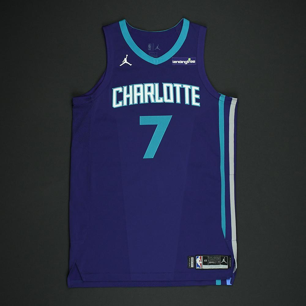 c0b5885b5fe Dwayne Bacon - Charlotte Hornets - Game-Worn  Statement  Jersey - 2017-