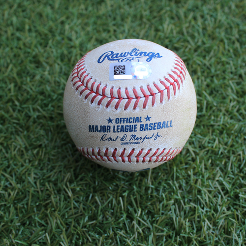 Photo of Game-Used Baseball: John Hicks 150th Career Hit (DET @ KC - 6/11/19)