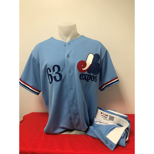 Photo of Sean Doolittle Expos Gear:  Game-Used Jersey and Game-Used Pants