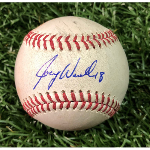 Photo of 20th Anniversary Autographed Game Used Baseball: Joey Wendle triple off Corey Kluber - September 10, 2018 v CLE