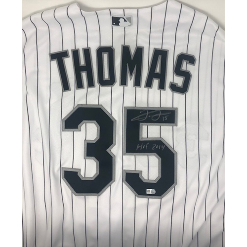 Photo of Frank Thomas Autographed Jersey