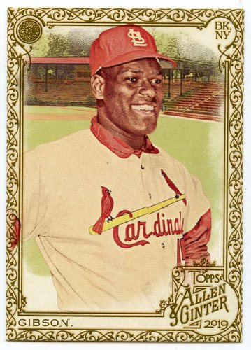 Photo of 2019 Topps Allen and Ginter Gold Border #281 Bob Gibson