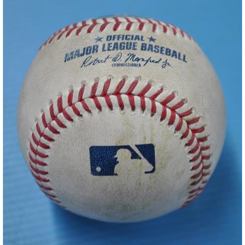 Photo of Game-Used Baseball - CIN at PIT - 9/5/2020 - Pitcher - Trevor Williams, Batter - Tucker Barnhart (CIN), Top 3, Home Run