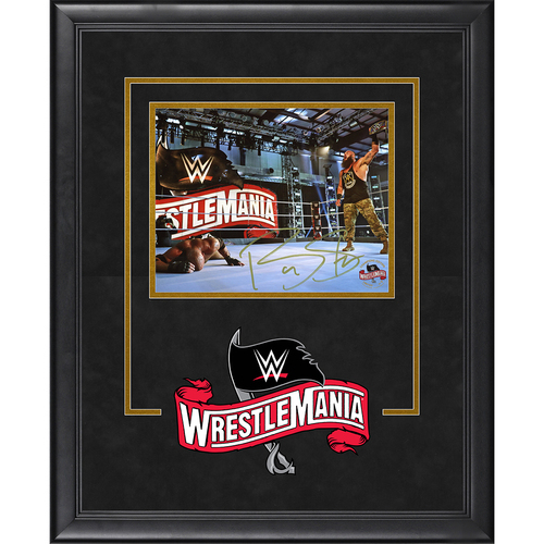 Photo of Braun Strowman SIGNED WrestleMania 36 Champion's Edition Frame (Random Number)