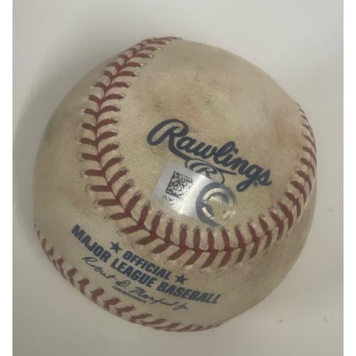 Photo of Game-Used Baseball - Jorge Polanco Single off Shane Bieber - 8/25/2020 - Twins at Indians