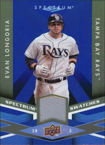 Photo of 2009 Upper Deck Spectrum Spectrum Swatches Blue #SSLO Evan Longoria