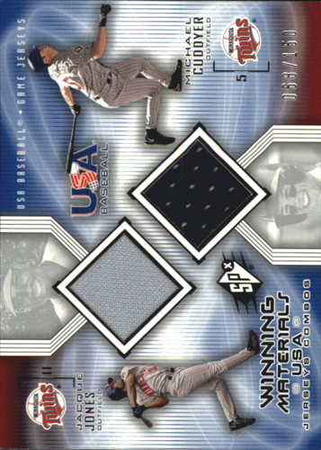 Photo of 2002 SPx Winning Materials USA Jersey Combos #USAJC Jacques Jones/Michael Cuddyer