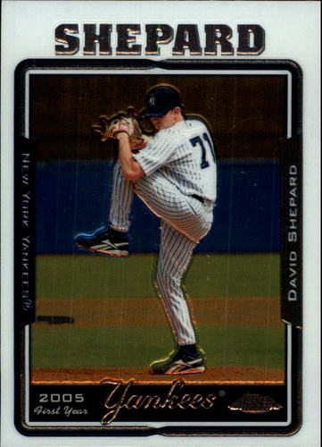 Photo of 2005 Topps Chrome Update #150 David Shepard FY RC
