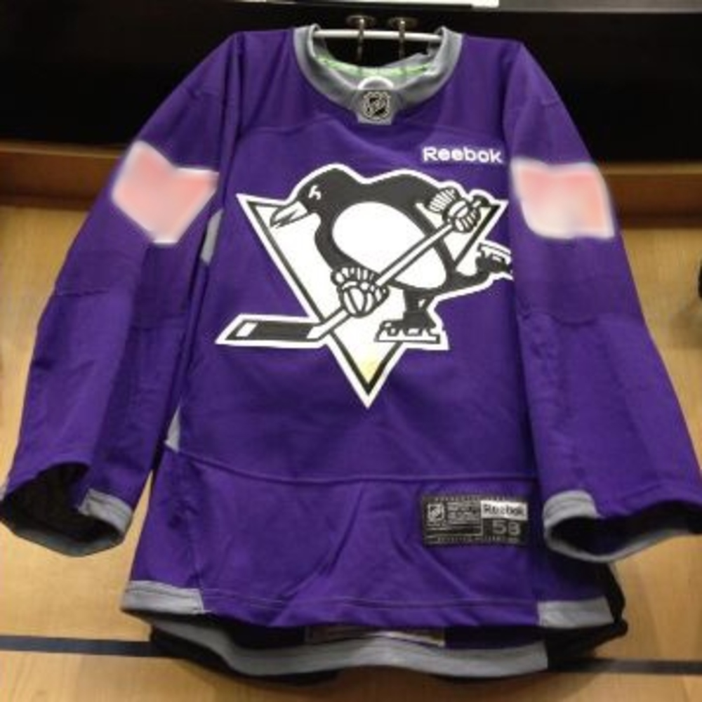 finest selection f2046 392d4 Pittsburgh Penguins Hockey Fights Cancer auction - Sidney ...
