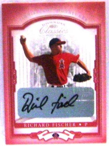Photo of 2004 Donruss Classics Significant Signatures Red #38 Richard Fischer/250