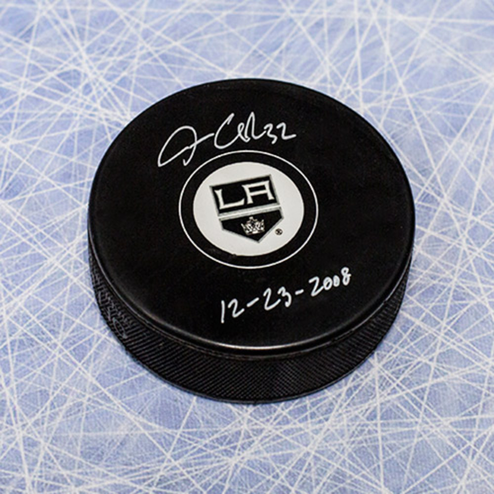 Jonathan Quick Los Angeles Kings Autographed Hockey Puck w/ 1st Shutout Note