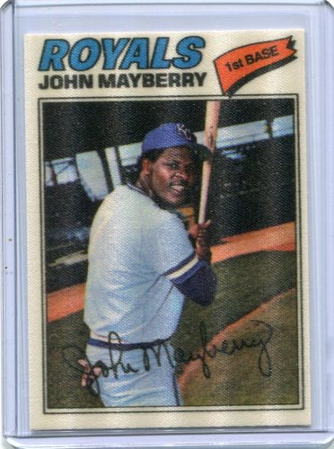 Photo of 1977 Topps Cloth Stickers #27 John Mayberry