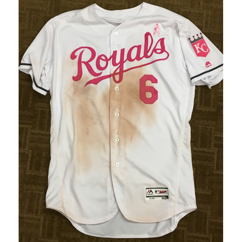 Lorenzo Cain 2017 Mother's Day Game-Used Pink Jersey