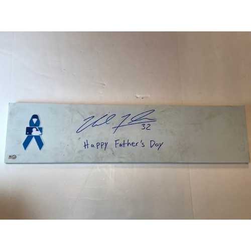 Photo of Autographed Michael Fulmer Ceremonial 1st Pitch  Pitching Rubber: Father's Day