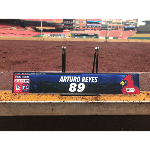 Photo of Cardinals Authentics: Arturo Reyes Team-Issued Spring Training Locker Tag