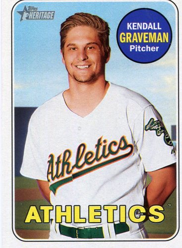 Photo of 2018 Topps Heritage #115 Kendall Graveman