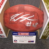NFL - Seahawks Shaquem Griffin signed authentic football w/ 2018 Draft logo and Texas ghost logo