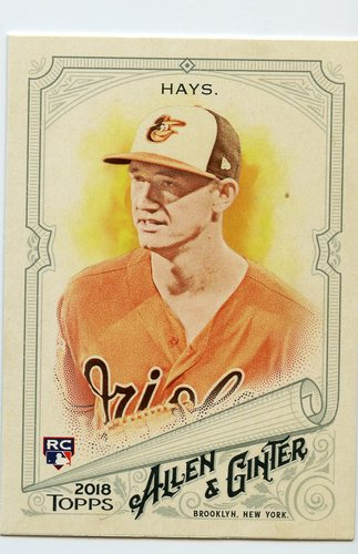 Photo of 2018 Topps Allen and Ginter #16 Austin Hays RC