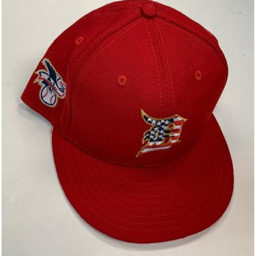Photo of Game-Used Stars and Stripes Cap: Warwick Saupold