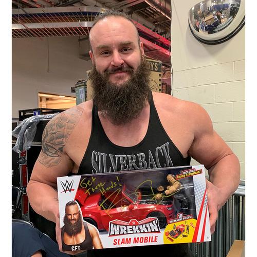 Photo of Braun Strowman SIGNED WWE Wrekkin' Slam Mobile