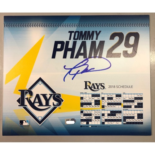 Photo of Game-Used Autographed Locker Tag: Tommy Pham