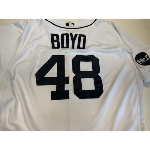Team-Issued Home Jersey: Matt Boyd