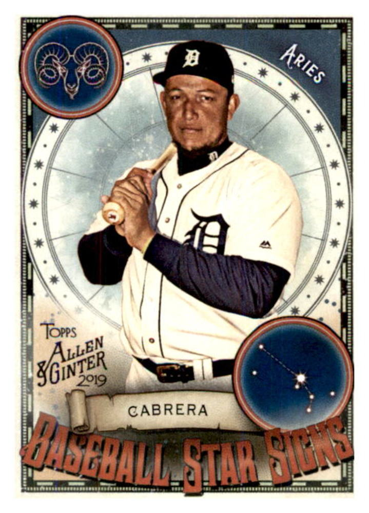 2019 Topps Allen and Ginter Baseball Star Signs #BSS9 Miguel Cabrera