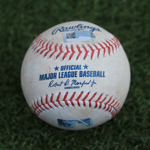 Photo of Game-Used Baseball: Leury Garcia 271st Career Hit (CWS @ KC - 6/7/19)