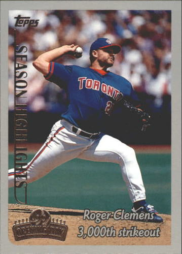 Photo of 1999 Topps Opening Day #161 Roger Clemens HL