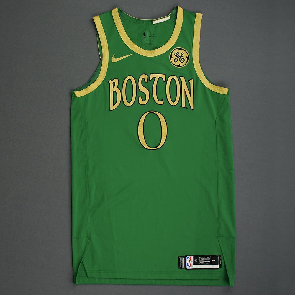 Jayson Tatum Boston Celtics Christmas Day 19 Game Worn City Edition Jersey Nba Auctions