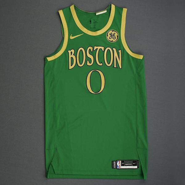Image of Jayson Tatum - Boston Celtics - Christmas Day' 19 - Game-Worn City Edition Jersey