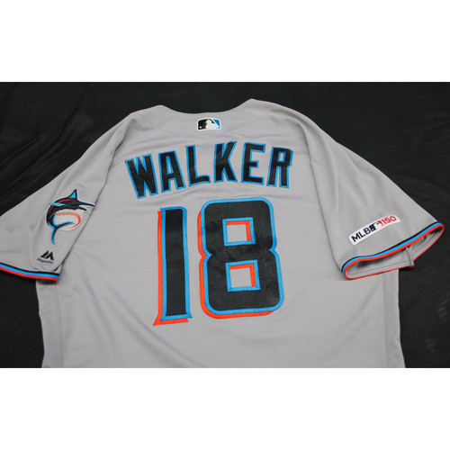 Game-Used 2019 Jersey: Neil Walker #18 - Size: 44 (Used 7/4/2019)