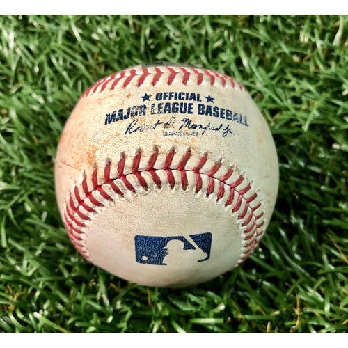 Photo of Game Used Baseball: Brandon Drury single off Trevor Richards - July 26, 2020 v TOR