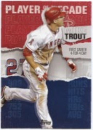 Photo of 2020 Topps Player of the Decade Mike Trout #MT3 Mike Trout