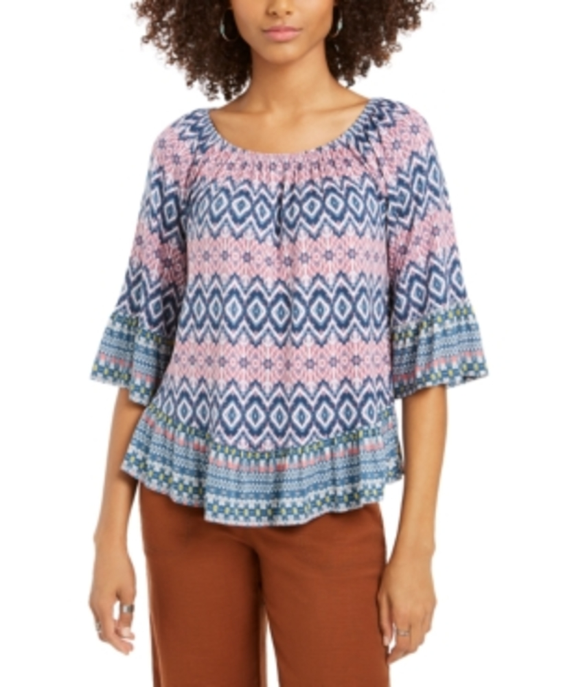 Photo of Style & Co Printed On/Off-The-Shoulder Top