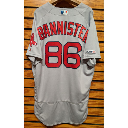 Photo of Brian Bannister #86 Gray Team Issued Road Jersey