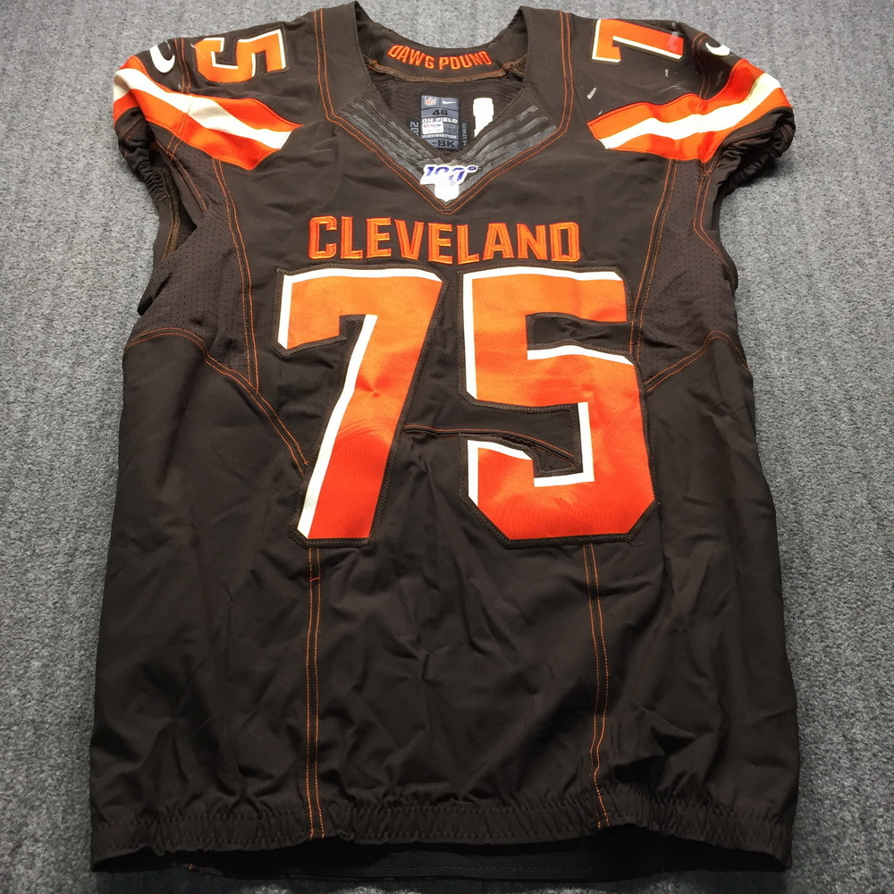 STS - Browns Joel Bitonio Game Used Jersey (11/10/19) Size 46