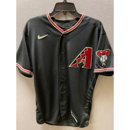 Photo of 2020 Luke Weaver Game-Used Black Alternate Jersey, 9/26/20 Rockies at D-backs: Weaver pitched 5 innings and gave up 7 hits, 4 earned runs and struck out 6