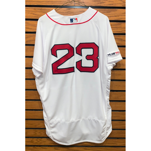 Photo of Michael Chavis Team Issued 2019 Home Jersey