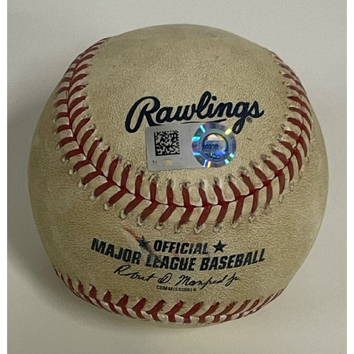 Photo of Game-Used Baseball - Aaron Civale Strikes Out Jose Abreu - 9/21/2020 - White Sox at Indians