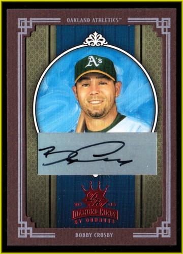 Photo of 2005 Diamond Kings Signature Framed Red #168 Bobby Crosby/50