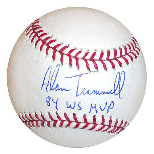 Photo of Alan Trammell Autographed Baseball-84 WS MVP